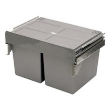 Kosz na śmieci podwójny JC656M-2 do szafki 60 z mocowaniem frontuz prowadnicami kulkowymi pełnego wysuwu oraz systemem miękkiego domykania....