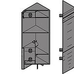 """INTIVO mocowanie frontu i ściany tylnej szuflady narożnej wysokiej """"D"""", brunatnoczarne ZSF.535E Mocowanie frontu do szuflady TANDEMBOX INTIVO..."""