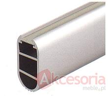 Profil Aluminiowy do Taśmy LED 833.74.735  profil, uchwyt drążka ubraniowego z matowaną osłoną, wykonane z aluminium eloksalowane na srebro do profilu...