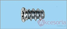 Wkręt EURO 6,3x14mm. • Średnica łba 6,8 mm • Długość 14 mm • Wykończenie niklowane • Gniazdo PZ2 • Pakowany po 500 szt.