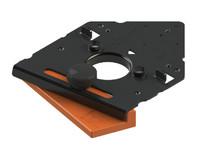 Wzornik wiertarski 65.059A ułatwiający montaż zawiasów Clip Top firmy Blum Służy dodo nawiercania otworów mocujących zawias w technice INSERTA i...