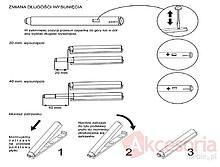 Zawiasy Zatrzask Magnetyczny SLIM Szary - Siso