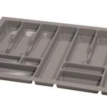 PRO wkład do szuflady 80 wykonany z trwałego i estetycznego tworzywa w kolorze metalicznym o gładkiej fakturze. Pozwala optymalnie wykorzystać przestrzeń...