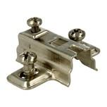 Prowadnik H=4 mm Do Zawiasu z Euro. Prowadnik firmy FGV Wykonanie: stal niklowana. Grubość stali: 1,0 mm. Wysokość prowadnika: H=4 mm.