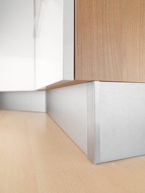 Cokół Kuchenny Wysokość 10cm Dł 4mb Aluminium Szczotkowane REHAU - Rehau