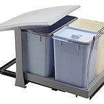 Sortownik na śmieci PA700 2x8l + 18l  Wykonany z chromowanej stali oraz tworzywa.  Potrójny pojemnik na śmieci może być doskonałym rozwiązaniem do...