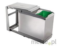 Sortownik na śmieci PAI605/1 10l + 16l  Wykonany z chromowanej stali oraz tworzywa.  Podwójny kosz na śmieci będzie doskonałym rozwiązaniem do...