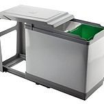 Sortownik na śmieci PAL605/1 10l + 16l  Wykonany z chromowanej stali oraz tworzywa.  Sortownik na śmieci składający się z dwóch pojemników...