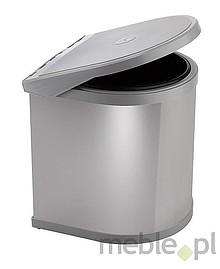 Sortownik na śmieciPPI607/4 Wykonany z tworzywa oraz metalu - kolor chrom. Montowany na drzwi. Pokrywa podnoszona automatycznie. Pojemność 10l.