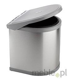 Sortownik na śmieciPPI607/4ALL Wykonany z tworzywa oraz aluminium. Montowany na drzwi. Pokrywa podnoszona automatycznie. Pojemność 10l.