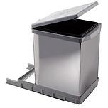 Sortownik na śmieciPAI609/1 Wykonany z tworzywa oraz metalu - kolor chrom. Montowany do dna szafki. Pokrywa podnoszona automatycznie. Pojemność 17l. ...