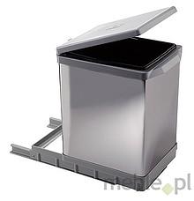 Sortownik na śmieciPAI609/1 Wykonany z tworzywa oraz metalu - kolor chrom. Montowany do dna szafki. Pokrywa podnoszona automatycznie. Pojemność...