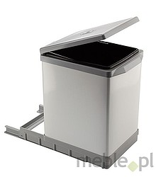 Sortownik na śmieciPAL609/1 Wykonany z tworzywa oraz metalu - kolor biały Montowany do dna szafki. Pokrywa podnoszona automatycznie. Pojemność...