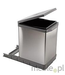 Sortownik na śmieciPAL609/ALL Wykonany z tworzywa oraz aluminium. Montowany do dna szafki. Pokrywa podnoszona automatycznie. Pojemność 17l.