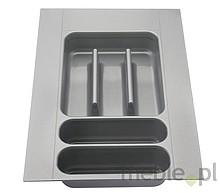 Wkład szufladowy włoskiej firmy ELLETIPI. Wykonany z tworzywa.  Do szafki 30.  Wkłady te można przycinać - zakres przycięcia 410-490 / 210-230.