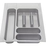 Wkład szufladowy włoskiej firmy ELLETIPI. Wykonany z tworzywa.  Do szafki 40.  Wkłady te można przycinać - zakres przycięcia 410-490 / 310-360.