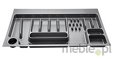 Wkład szufladowy włoskiej firmy ELLETIPI. Wykonany z tworzywa.  Do szafki 90.  Wkłady te można przycinać - zakres przycięcia 410-490 / 810-830.