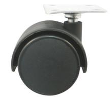 Kółko obrotowe Czarne bez hamulca z płytką mocującą 50mm   Wymiary: * płytka - 4cm x 4cm * rozstaw nawiertów płytki - 2,7cm x 2,7cm * szerokość...