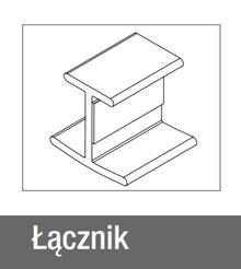 Łącznik 180° NA PROSTO do Cokołu wys.10cm ALUminium Szczotk. Reh - Rehau