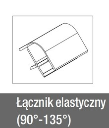 Łącznik 90-135° Elastyczny do Cokołu wys.15cm ALUminium Szczotk. - Rehau