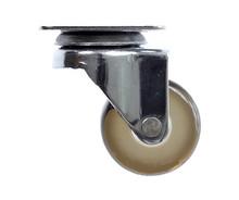 Kółko obrotowe, wykonane ze stali chromowanej i wysokiej jakości kauczuku.  Wymiary: * płytka - 50x50x1,8 mm * rozstaw nawietów płytki - 38x38mm...