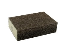Gąbkaszlifierska gruba do szlifowania elementówz drewna i metalu(nasyp korundowy) Rozmiar 100x68x25 mm. Ziarnistość 60  Papier...
