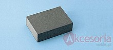 Gąbkaszlifierska gruba do szlifowania elementówz drewna i metalu(nasyp korundowy) Rozmiar 100x68x25 mm. Ziarnistość 150  Papier...
