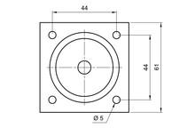 Nóżka Kwadratowa D-737-3 Z Regulacją wys.10cm CHROM POŁYSK - Amix