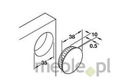 Zaślepka puszki zawiasu fi35mm tworzywo sztuczne biała - Häfele