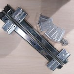 Prowadnica kulkowa do półki pod klawiaturę pod blatem wysuw 75% wysokość 35mm długość 350mm  Cena dotyczy 1 kompletu (prawa + lewa prowadnica)