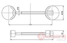 Złącze KDS-058 Do Łączenia Blatów Dł.6.5cm Metalowe Amix - Amix