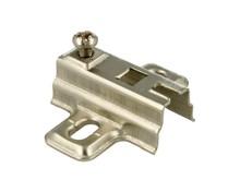 Prowadnik H=4 mm Do Zawiasu bez Euro. Prowadnik firmy FGV Wykonanie: stal niklowana. Grubość stali: 1,0 mm. Wysokość prowadnika: H=4 mm.