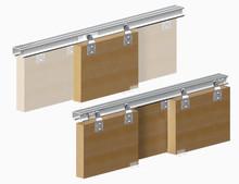 System Horus do 3 sztuk drzwiprzesuwnychprzejściowych.  Zastosowanie: - do drzwi z płyty meblowej lub drewna.  Główną zaletą...