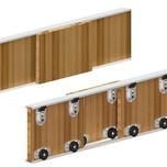 System ARES 2 do 3 sztuk drzwiprzesuwnychw szafach i zabudowach wnęk.  Ciężar drzwi do 70kg. Grubość drzwi od 16mm. Długość prowadnicy...