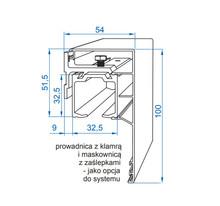 Prowadnice do drzwi Zestaw HERKULES HS120 Do 1szt Drzwi Przejściowych dł.300cm 120kg - Valcomp