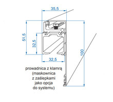 Zestaw HERKULES GLASS Do 1szt. Drzwi Szklanych dł.200cm 100kg - Valcomp