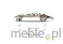 Uchwyty Uchwyt 854 Rostaw 96mm Postarzany Chrom FERRETTO - Ferretto
