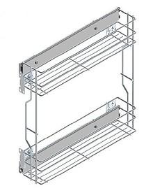 VARIANT PLUS Cargo mini boczne 20 metal lakier srebrny  * prowadnice kulkowe REJS z miękkim dociągiem *mocowanie frontu regulowane w trzech...