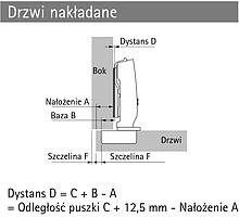 Systemy drzwi przesuwnych Hettich Zawias Nakładany 8645i Z Hamulcem Do Systemu WingLine - Hettich