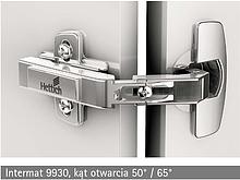 Zawias Intermat Ze Sprężyną 9930 z puszką o wyglądzie Zawias Sensys z Hamulcem Drzwi Składane Środkowe 50°/65° TH52