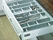 Wkład na sztućce OrgaTray 560w kolorze Srebrnym wykonany z tworzywa sztucznego do korpusu o szer. 500 i głębokości 470 mm o wymiarach...