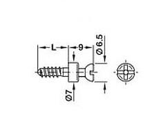 Trzpień łączący S20 do otworu o średnicy 3mm Rafix - Häfele