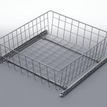 Szuflada MD wewnętrzna do szafki 60 wysokość 100mm z prowadnicami rolkowymi częściowego wysuwu Metal Lakier efekt chrom Szuflady do mebli są dostępne w...