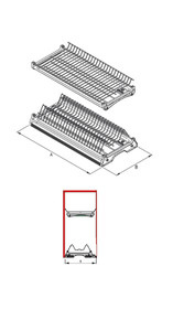 Ociekarka VARIANT 3 Do Szafki 40cm Bez Dna 2-poziom. EFEKT CHROM - Rejs