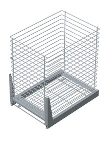 VARIANT PLUS Cargo mini dolne jednopoziomowe 40 metal lakier srebrny Do szafki o szerokości 40 cm / głębokości 50 cm. * prowadnice kulkowe REJS z miękkim...