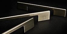 Uchwyt 0053 metalowy lakier biały mat rozst. 96-128 - Viefe