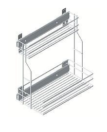 VARIANT PLUS Cargo mini boczne DUO 30 metal lakier efekt chrom    * prowadnice kulkowe REJS z miękkim dociągiem * system mocowania kosza: skręcany *...