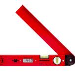Przymiar kątowy - Kątomierz cyfrowy. Długość ramienia 350 mm Zakres pomiarowy kąta od 0 do 180 stopni. Dokładność 0,1 stopnia. Zasilanie - bateria 9V...