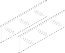 LEGRABOX Free szklany element dekoracyjny do boku 50cm   ZE7S388G Typ: Element dekoracyjny - bok System szuflad: LEGRABOX free Długość...