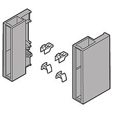 Zestaw uchwytów do mocowania elementów dekoracyjnych o grubości 8mm Przeznaczony do szuflad Tandembox ANTARO Materiał: tworzywo  Sprzedawane w...